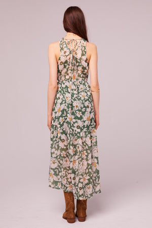 Maxella Floral Sleeveless Wrap Maxi Dress Back