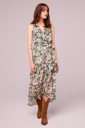 Maxella Floral Sleeveless Wrap Maxi Dress Master