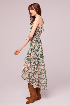Maxella Floral Sleeveless Wrap Maxi Dress Side