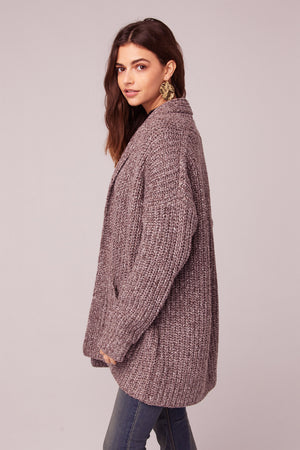 Miss you Oversize Cardigan Sweater Side2