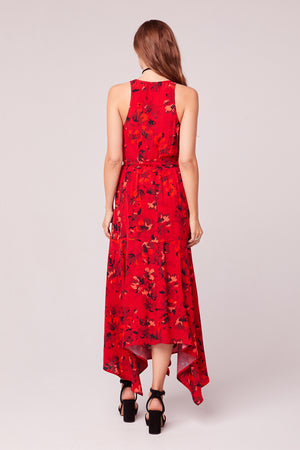 Mon Amoureux Floral Maxi Wrap Dress Back
