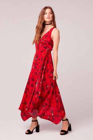 Mon Amoureux Floral Maxi Wrap Dress Side