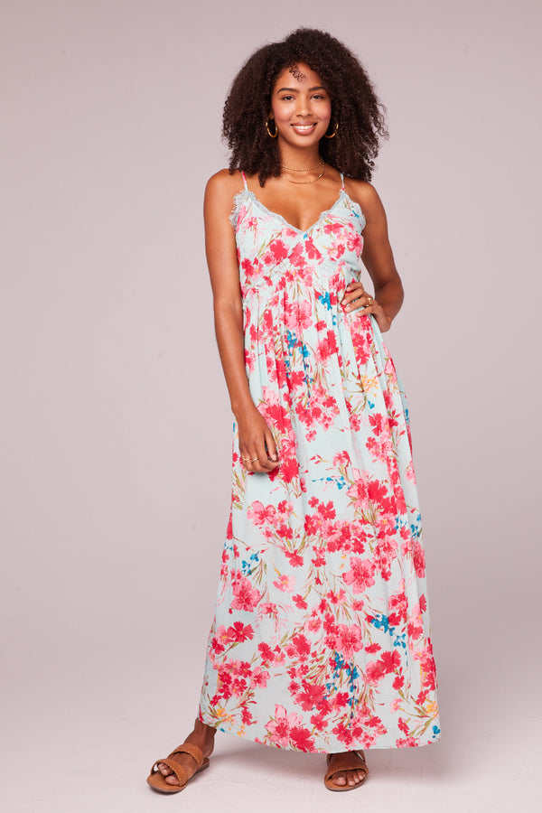 Monique Sky Blue Floral Maxi Dress Master