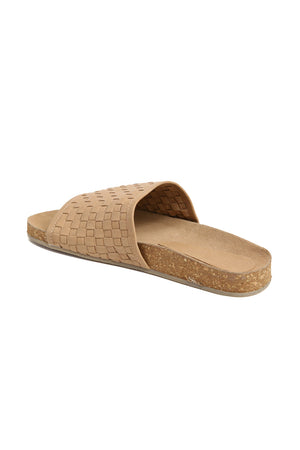 Montana Natural Woven Leather Slide Sandal Back