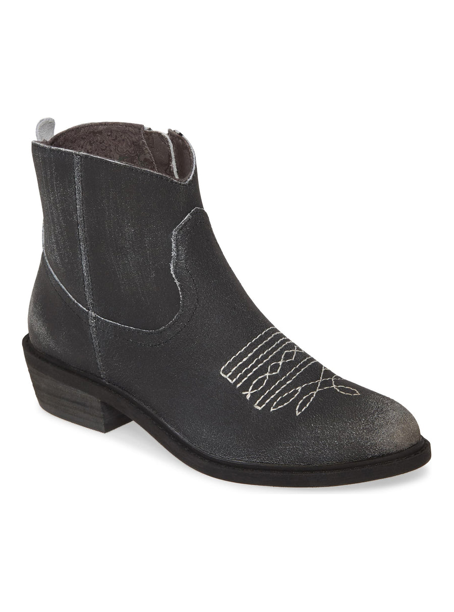 Montrose Black Crackle Leather Booties Master