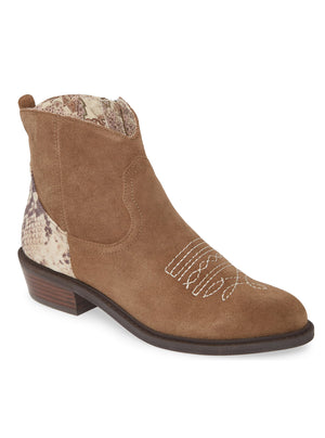 Montrose Natural Snake Skin Leather Booties Master