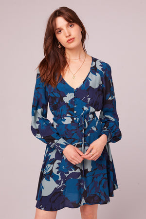Morningside Sapphire Long Sleeve Mini Dress Master