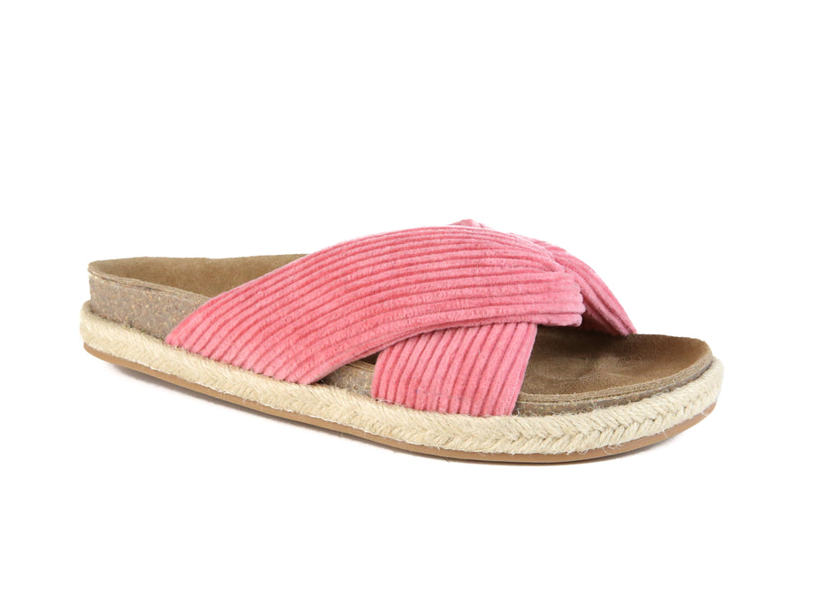 Move Over Slide Sandal Dusty Pink Corduroy