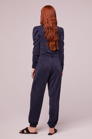 Myrna Midnight Shimmer Pocket Joggers Back