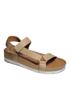 Newport Natural Leather Sandal Front