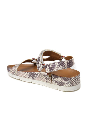 Newport Snake Print Leather Sandal Back