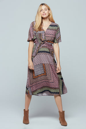 Normandy Lavender Ditsy Print Midi Dress Master