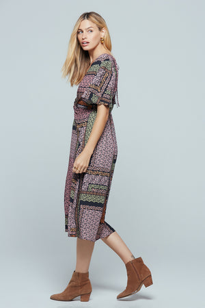 Normandy Lavender Ditsy Print Midi Dress Side 2