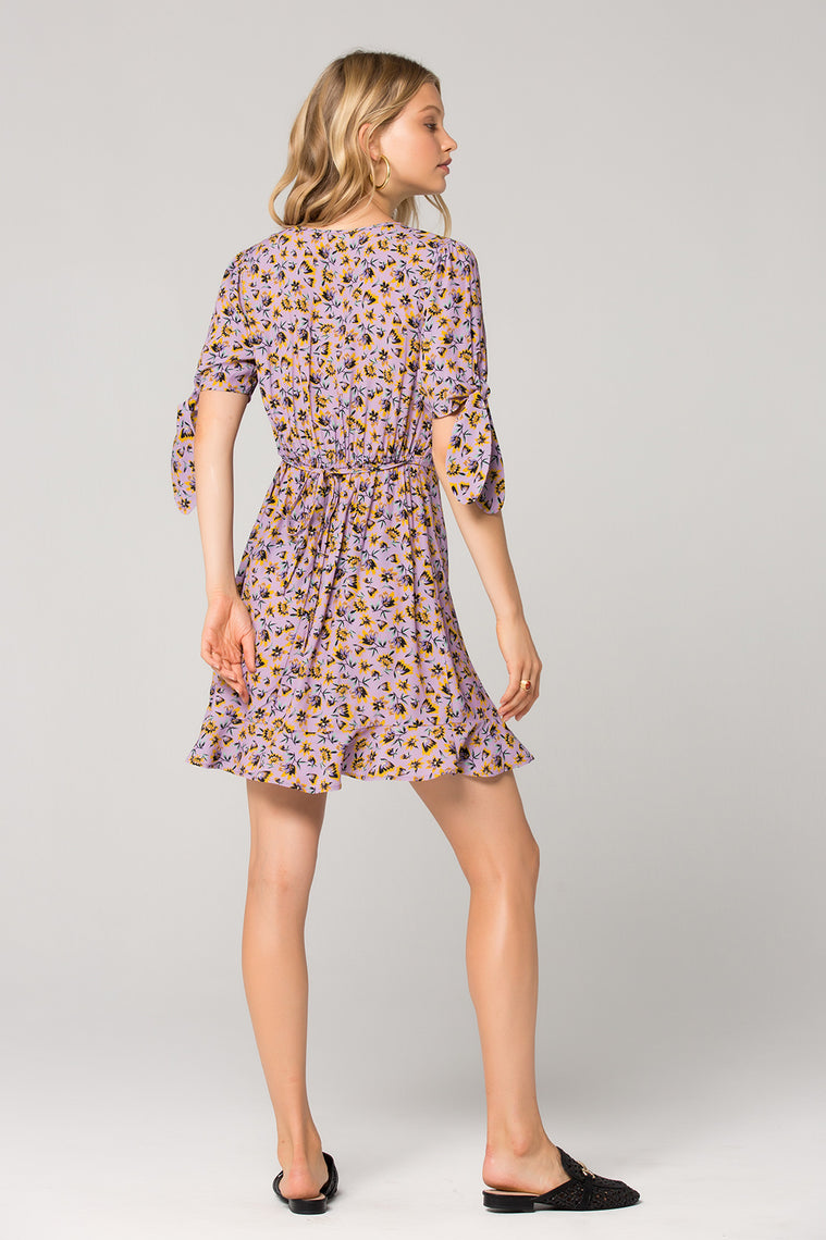 Nottingham Lavender Floral Mini Dress Back 2