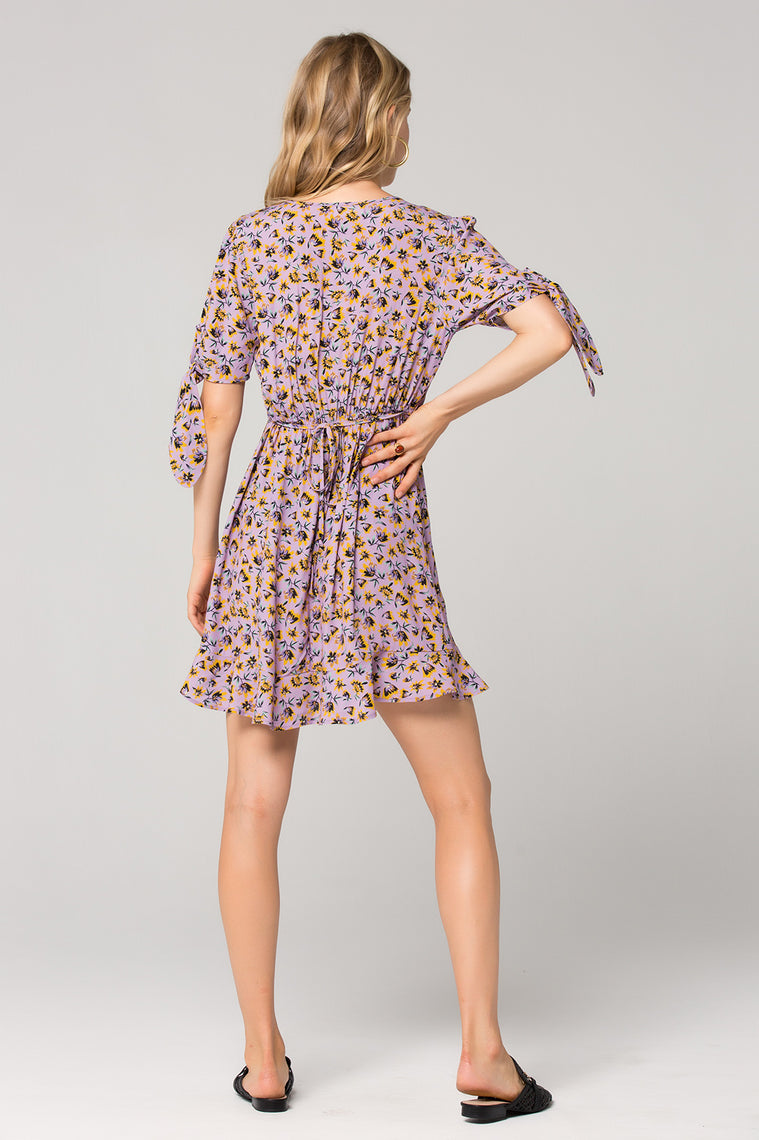 Nottingham Lavender Floral Mini Dress Back