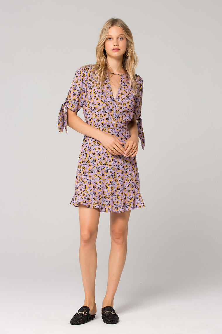 Nottingham Lavender Floral Mini Dress Front