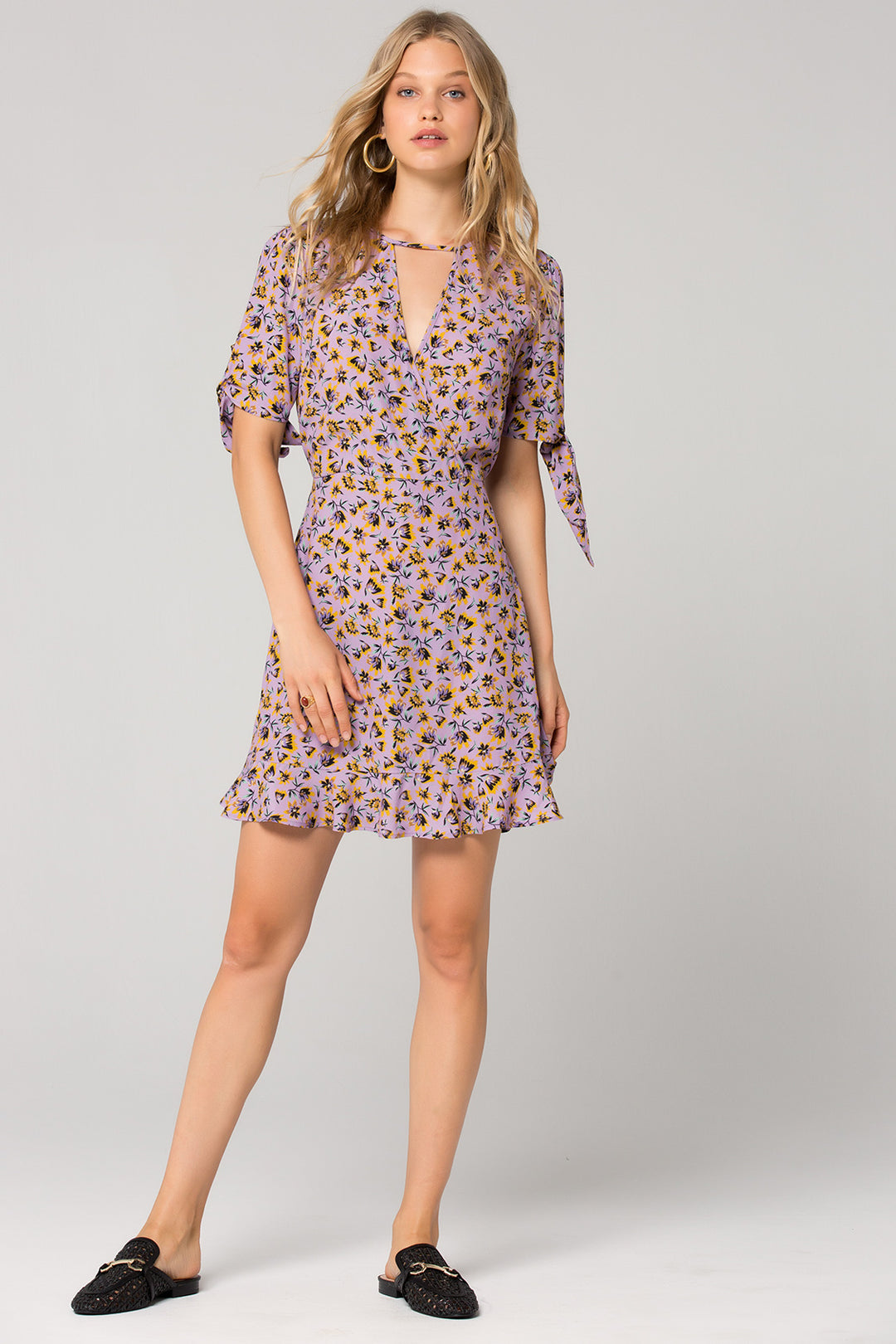 Nottingham Lavender Floral Mini Dress Master