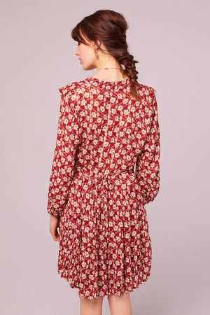 Oak St Long Sleeve Floral Mini Dress Back