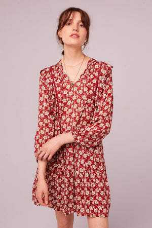Oak St Long Sleeve Floral Mini Dress Master