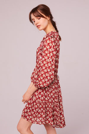 Oak St Long Sleeve Floral Mini Dress Side