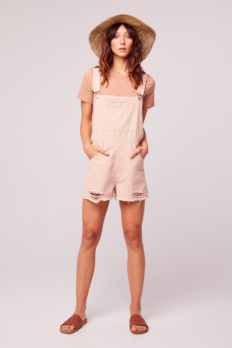 One And Done Blush Short Overall Romper Master2