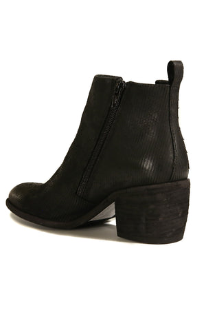 Oslo Black Snake Effect Leather Boot Back
