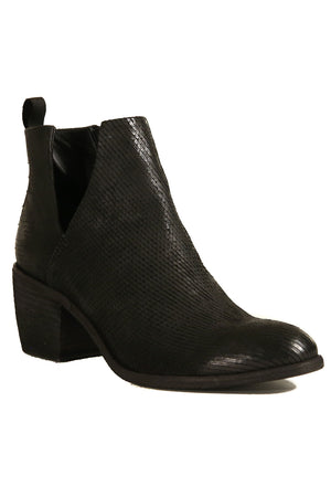 Oslo Black Snake Effect Leather Boot Master