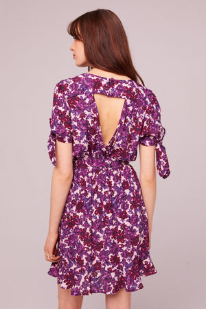 Pacific Ave Tie Sleeve Floral Mini Dress Master