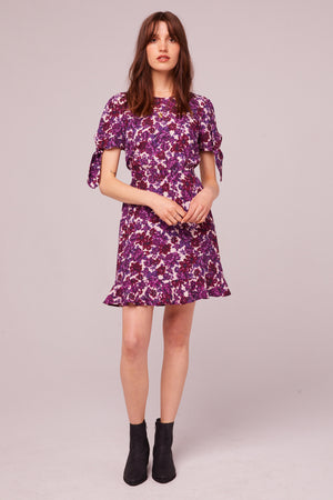 Pacific Ave Tie Sleeve Floral Mini Dress Detail