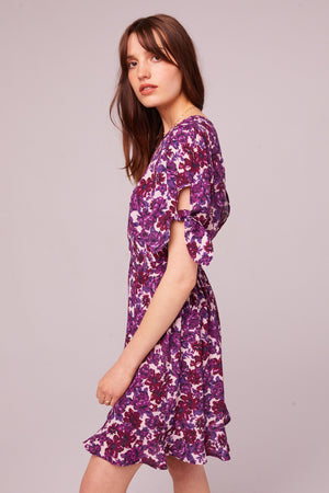 Pacific Ave Tie Sleeve Floral Mini Dress Side
