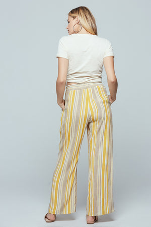 Palermo Wide Leg Stripe Pants Back