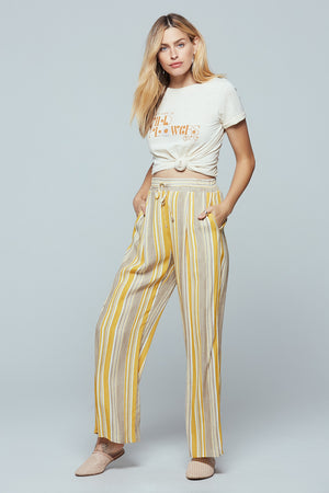 Palermo Wide Leg Stripe Pants Detail