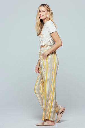 Palermo Wide Leg Stripe Pants Side