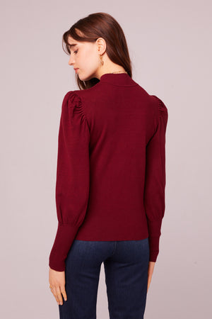 Park Ave Mock Neck Sweater Back