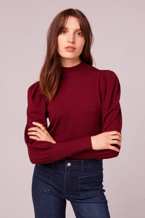 Park Ave Mock Neck Sweater Front