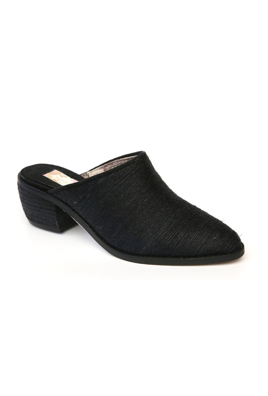Parker Mini Rope Fabric Black Mule Master