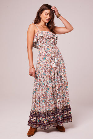 Pennylane Plum Border Print Maxi Dress Master