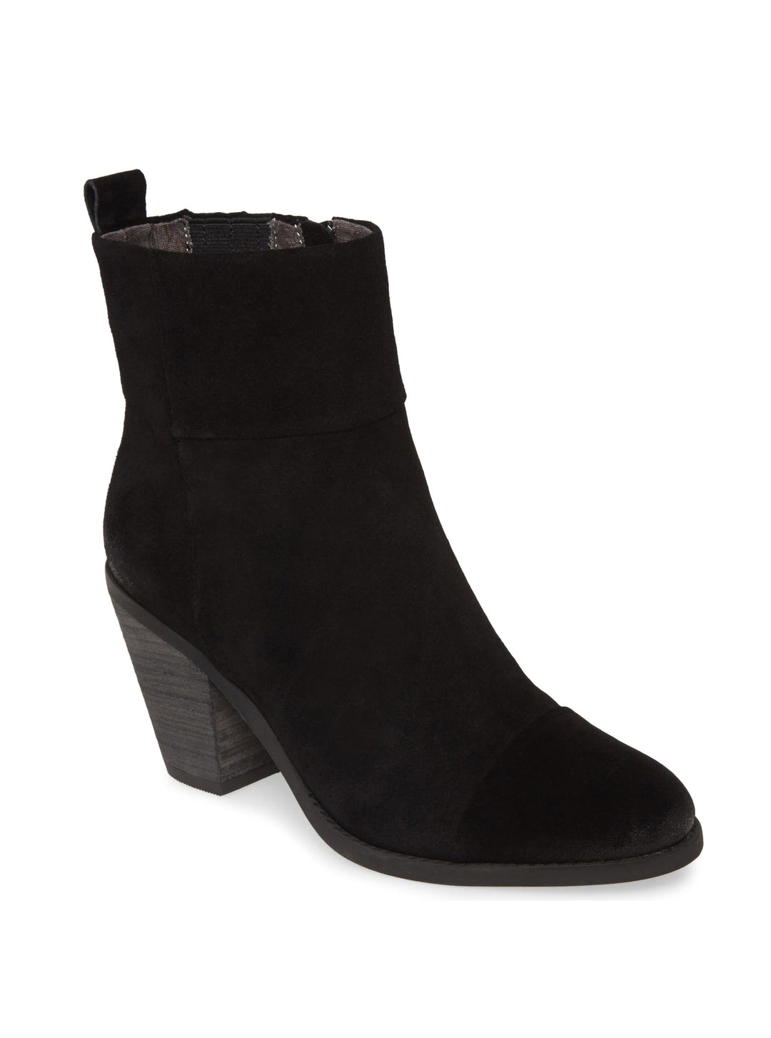 Penrose Black Suede Booties