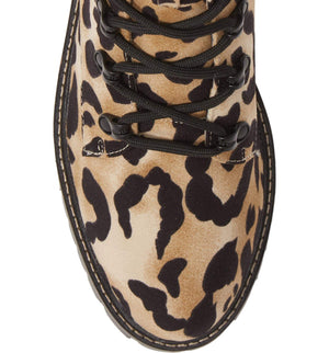 Peyton Leopard Print Lace Up Boot
