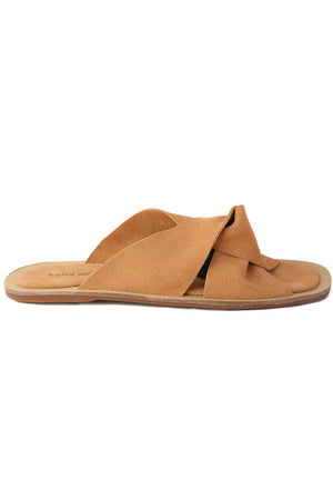 Phoebe Butternut Suede Slide Sandal Side