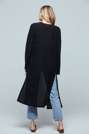 Piece Of My Heart Black Longline Cardigan Back