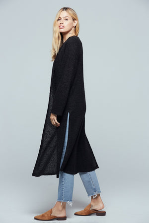 Piece Of My Heart Black Longline Cardigan Side