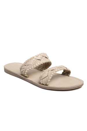 Pier Bone Braided Leather Sandal Front