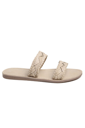 Pier Bone Braided Leather Sandal Side