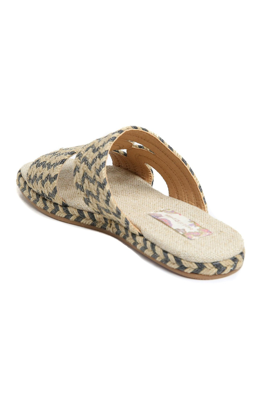Playa Natural Black Braided Jute Slide Sandal Master