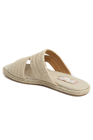 Playa Natural Braided Jute Slide Sandal Back