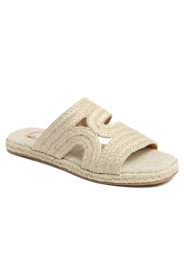 Playa Natural Braided Jute Slide Sandal Master