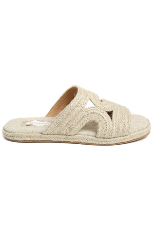 Playa Natural Braided Jute Slide Sandal Side