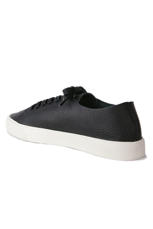 Pluto Black Leather Sneaker Back