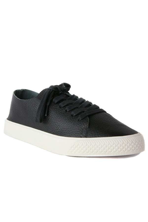 Pluto Black Leather Sneaker Master